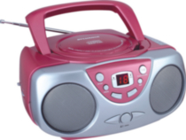 Sylvania SRCD243 Portable CD Player with AM/FM Radio, Pink