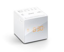 SONY Alarm Clock with FM/AM Radio, White - ICFC1W