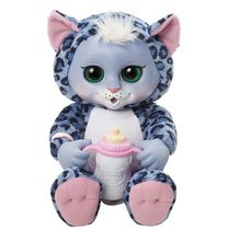 Animal Babies Nursery Deluxe Electronic Plush Toy - Baby Snow Leopard