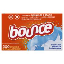 Bounce Fresh Linen Fabric Softner Dryer Sheets