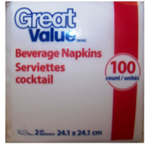 Great Value Serviettes Cocktail