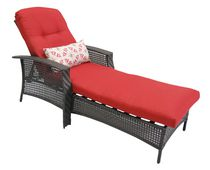 hometrends Tuscany Wicker Chaise Lounge Red
