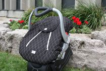 Mint Marshmallow Carseat Cover - Black