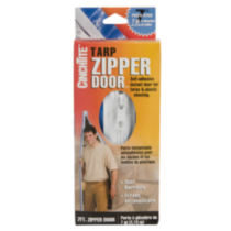 Peel 'N Stick Tarp Zipper Door
