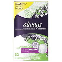 Always Discreet, Incontinence Underwear, Maximum Absorbency, Small/Medium