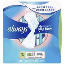 Always Infinity Heavy Flow Flex-Foam Pads
