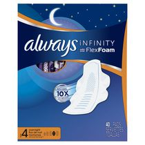 Always Infinity Overnight Pads with wings