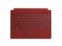 Clavier Type Cover de Surface 3 Microsoft - FR Rouge