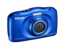 Nikon Coolpix S33 Point & Shoot Digital  Camera - Blue