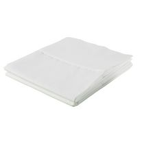 hometrends Cotton Percale Pillowcases White Standard