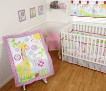 Sumersault Sweet Safari Crib Set