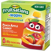 Mott's Fruitsations +Veggies Unsweetened Peach Apple Carrot Fruit and Veggie Snack