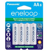 Panasonic eneloop AA Ni-MH Pre-Charged Rechargeable Batteries - 8 Pack