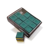 Green Billiard Pool Cue Chalk - 12 pack