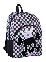 Athletic Works Skull Printed Black Backpack