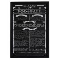 Hathaway Foosball Game Rules Wall Art