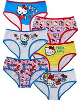 San Rio Girls Hello Kitty Six Pack Hipster 4
