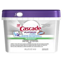 Cascade® Platinum™ ActionPacs™ With The Power Of Clorox® Dishwasher Detergent Fresh Scent
