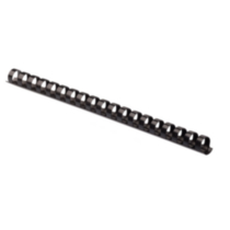 "Fellowes® ½"" Plastic Comb, 100/pk, Black"