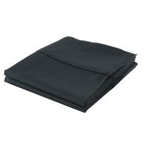hometrends Cotton Percale Pillowcases Black Standard