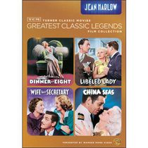 TCM Les Grandes Légendes Du Cinéma Collection De Films : Jean Harlow - Dinner At Eight / Libeled Lady / China Seas / Wife Vs. Secretary