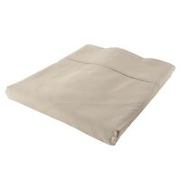 hometrends T300 Thread Count Cotton Percale Fitted Sheet Taupe Queen
