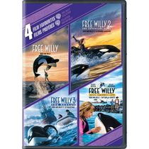 4 Film Favorites: Free Willy Collection - Free Willy / Free Willy 2: The Adventure Home / Free Willy 3: The Rescue / Free Willy: Escape From Pirate's Cove (Bilingual)