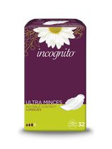 Serviettes longues Incognito® Ultra Minces Invisible™ Contact™  à rebords Confort-Tab†, paq. de 32