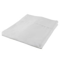 hometrends T300 Thread Count Cotton Percale Flat Sheet White Queen