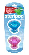 Steripod Lab Tested Clip-on Antibacterial Toothbrush Sanitizer
