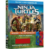 Teenage Mutant Ninja Turtles (Blu-ray + DVD + Digital HD + Reversible Masks) (Bilingual)