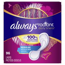 Always Radiant Pantiliners - Regular Wrapped unscented, Count of 96