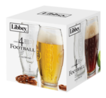 Football glass set/4