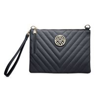 Macbeth Black Power Clutch Purse