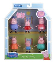 Peppa Pig & Family 6 Pack Toy Figurines