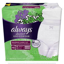 Always Discreet Maximum Classic Cut Rapid Dry Odor lock Underwear