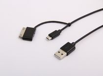 ONN  30 Pin & Micro USB Charge and Sync cable - Black