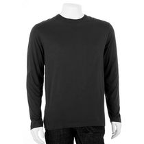 George Men's Crewneck Long Sleeved T-Shirt Black L/G