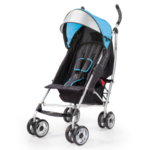 Poussette pratique 3D Lite de Summer Infant Bleu.