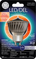 General Electric LED GU10 5.5 Watts Bright White Bulb - Pack of 1