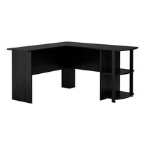 Ameriwood L-Shaped Desk, Black