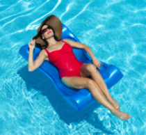 Deluxe Aqua Hammock Pool Float - Blue