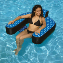 Chaise de suspension recouverte gonflable de piscine