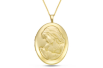 Gold Filled Mother/Child Oval Locket, with Chain