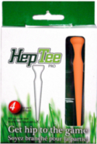 Hep Tee Pro Golf Tees Orange