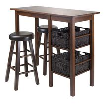Egan 5pc table with stools and baskets, item 94527