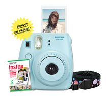 Fujifilm Instax Mini 8 Camera with 10 Exposures & Strap Blue