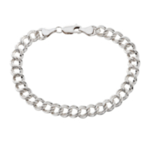 Sterling Silver Parallel Curb Bracelet - 8.5""