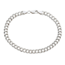 Sterling Silver Parallel Curb Bracelet - 7.25""