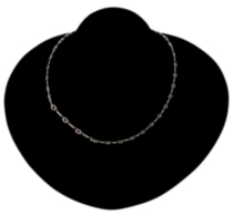 "Sterling Silver 18"" Bar Link Neck Chain"
